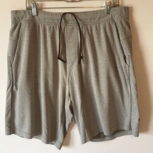 Lululemon mesh workout shorts.  Gray XL.